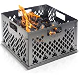 KIBAGA Stainless Steel Charcoal Firebox Basket for Oklahoma Joe's Smoker - Easy Clean Grill Accessories for Long Efficient Sm