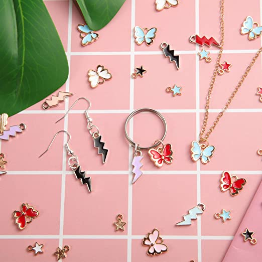 5102050 pcs Resin Blue  pink fantail fish pendants  charms
