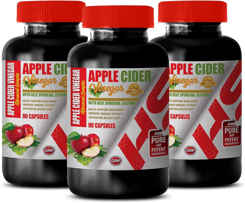 Weight Loss Fat Burner for Women - Apple Cider Vinegar - Lecithin Pills - Blood Pressure Pills Help Lower - 3 Bottles 270 Capsules