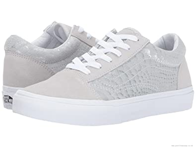 c2a46a4730 Image Unavailable. Image not available for. Color  Vans Old Skool Metallic  Snake Silver White Kids Shoes 11