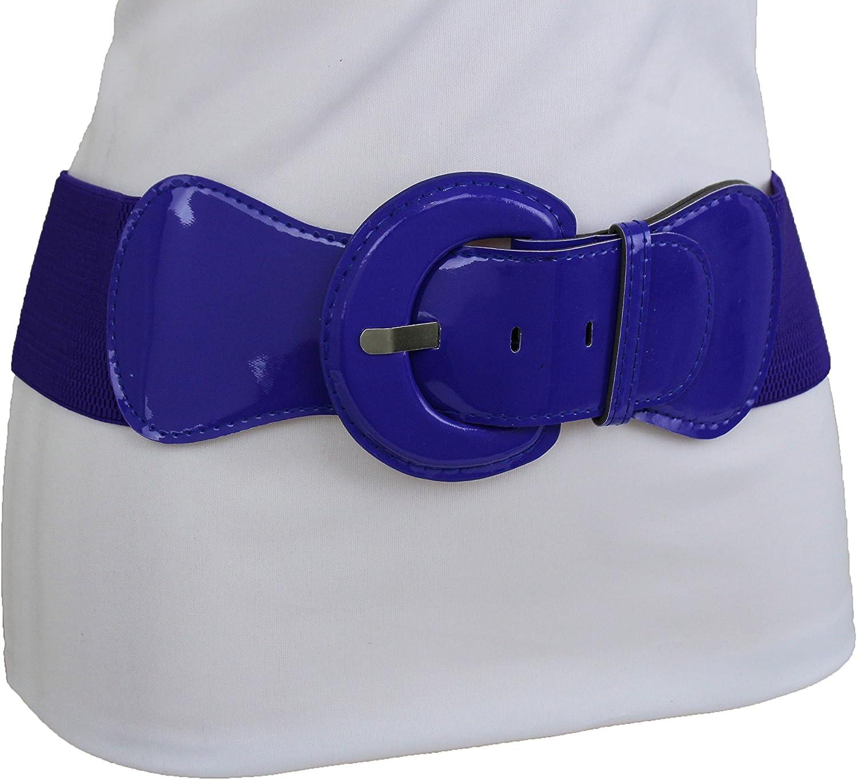 New Women Fashion Belt Stretch Hip Elastic High Waist Purple Plus Size XS S M