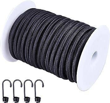 Darice 1921-3772 Elastic Cording Black 2mm