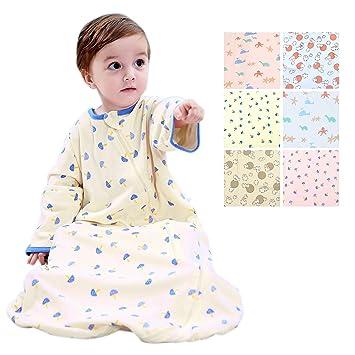 839e718fa8 Amazon.com  GEX Baby Sleep Sack 100% Cotton Wearable Blanket Baby Sleeping  Bag Winter Spring Autumn(3mos-6.5year)  Baby