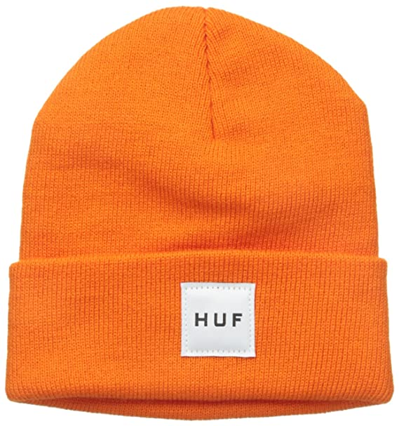 67a581765707 Amazon.com: HUF Men's Box Logo Beanie, Orange, One Size: Clothing