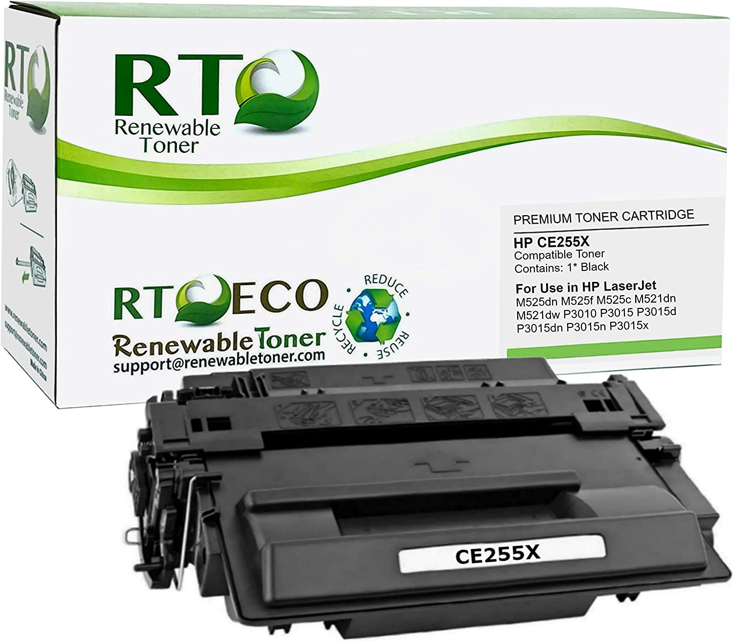 AIM Compatible Replacement for HP Laserjet P3010//3015 Jumbo Toner Cartridge - Generic CE255XX5PK 5//PK-15000 Page Yield NO. 55XJ