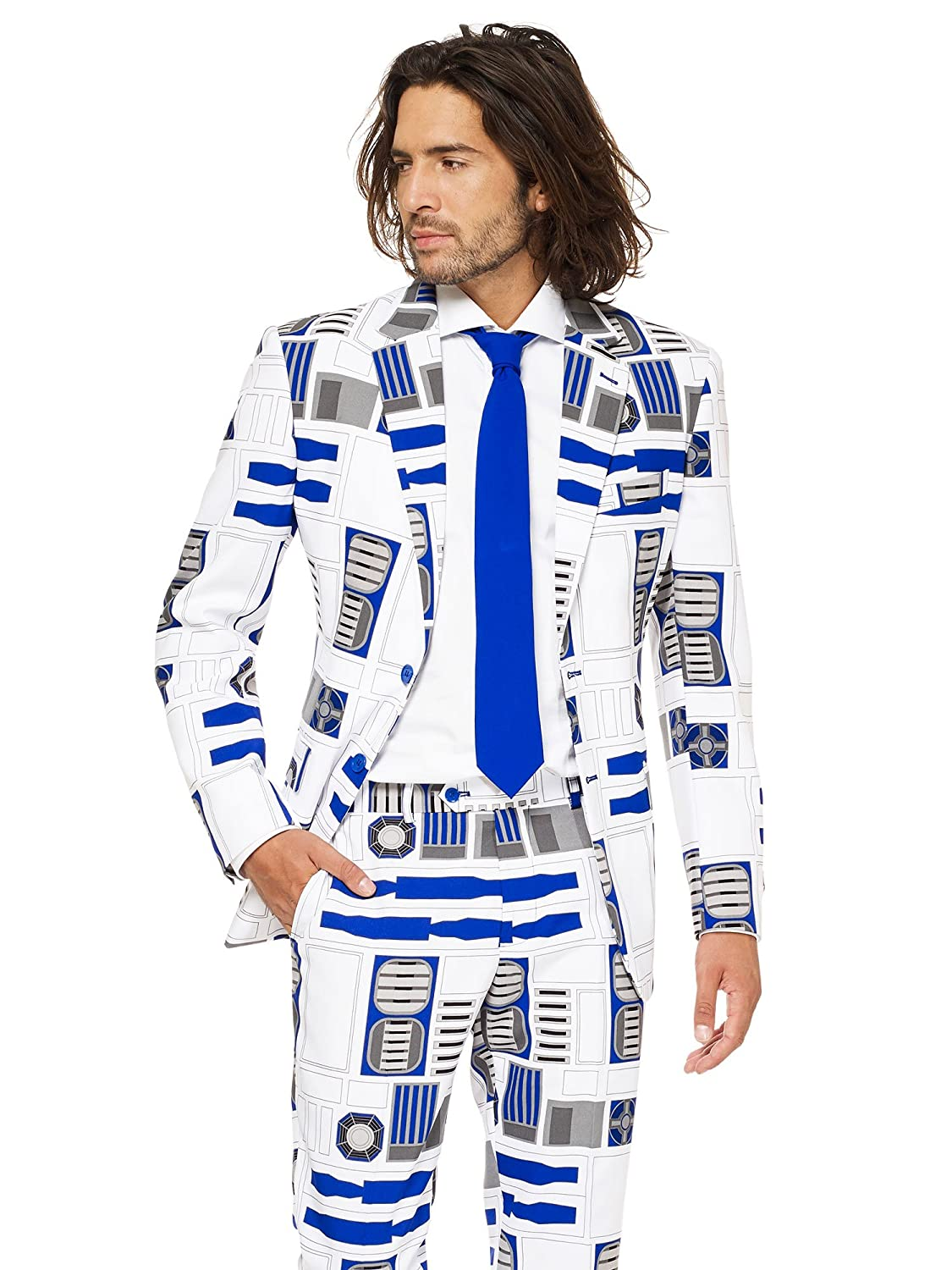 Official R2-D2/™ Costume Comes with Pants Jacket And Tie opposuits Star Wars/™ Men/'s Suit