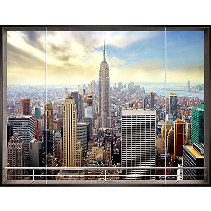 Carta da parati moderna - New York 396 x 280 cm Fotomurale tessuto non  tessuto Soggiorno - 100% made in Germany - 9026012a