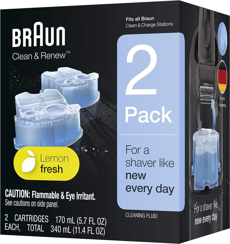 Braun Clean & Renew 2 Cartridges 5.7 oz each by Braun
