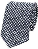 【dunhill】ダンヒル イタリア製 チェック シルクネクタイ 紺