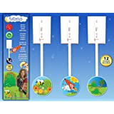 KidSwitch Lightswitch Extension for Toddlers - Laurie Berkner Edition - 3 PACK - Includes 12 Themed Art Decals