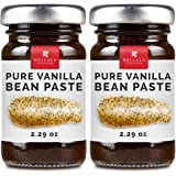 Gourmet Pure Vanilla Bean Pastes (2 Pack) - Organically Grown, Contains Whole Vanilla Seeds from Hand Picked Vanilla Pods, All Natural, Superior to Tahitian, Mexican or Madagascar - Perfect For Baking