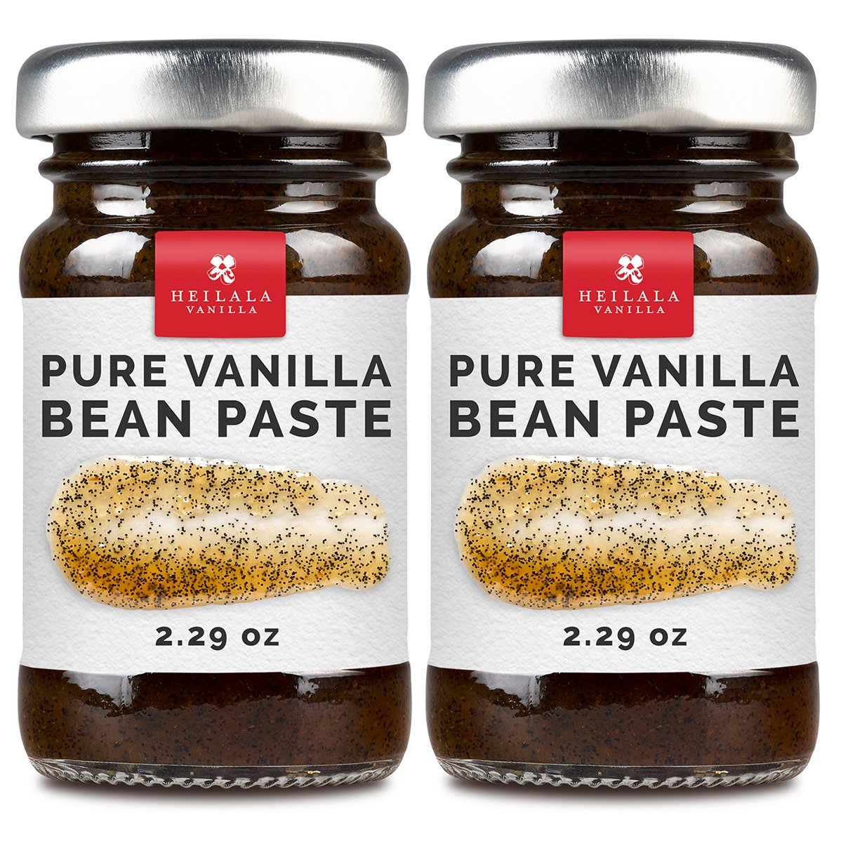 Vanilla Bean Paste for Baking - Heilala Vanilla, the Choice of the Worlds Best Chefs & Bakers, Using Sustainable, Ethically Sourced Vanilla, Multi-Award Winning, Hand-Picked from Polynesia, 2 Pack by Heilala