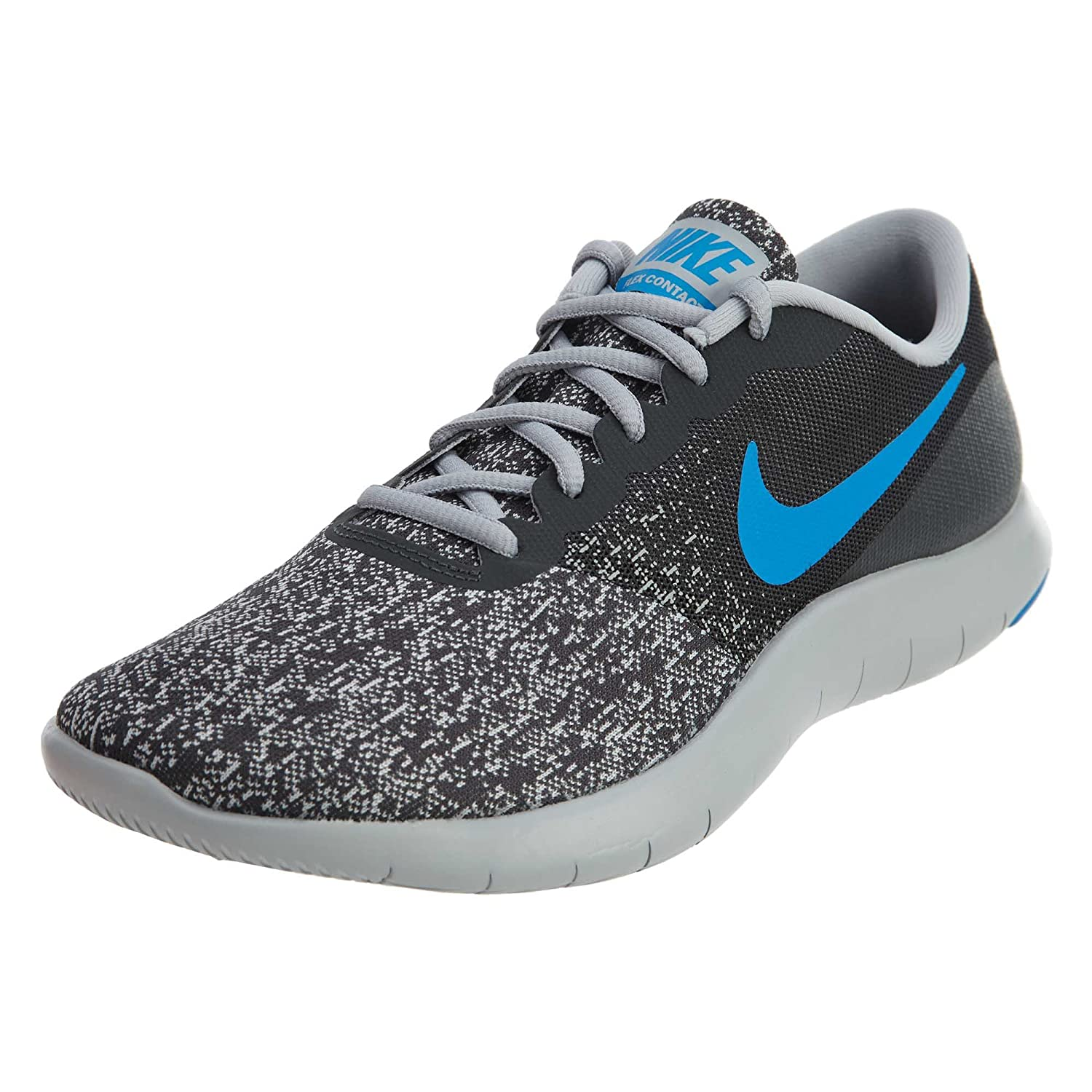 NIKE Men's Flex Contact Running Shoe B0763RNFMC 10 D(M) US|Anthracite/Photo Blue-wolf Grey