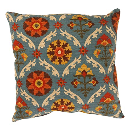 Pillow Perfect Mayan Medallion 18-Inch Throw Pillow, Adobe