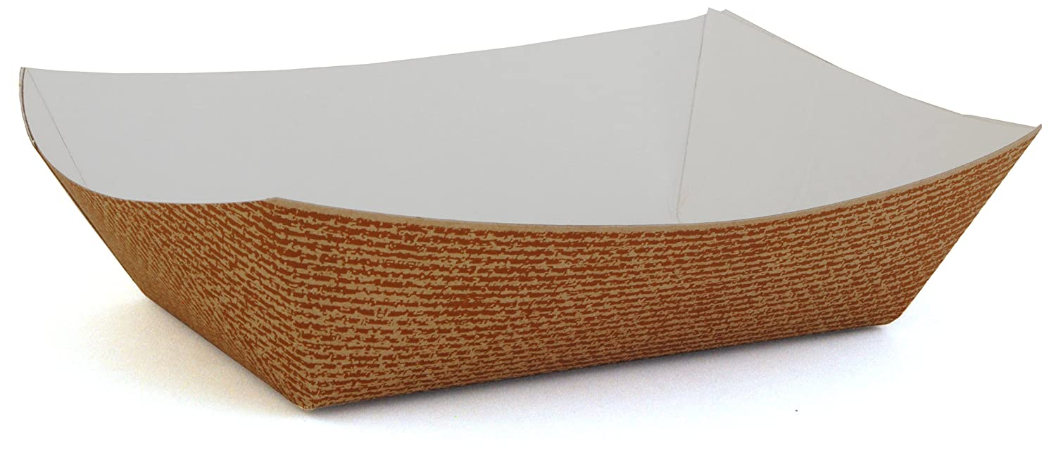 Southern Champion Tray 0567 #500 Hearthstone Clay Coated Paperboard Food Tray / Boat / Bowl, 5 lb Capacity (Case of 500)