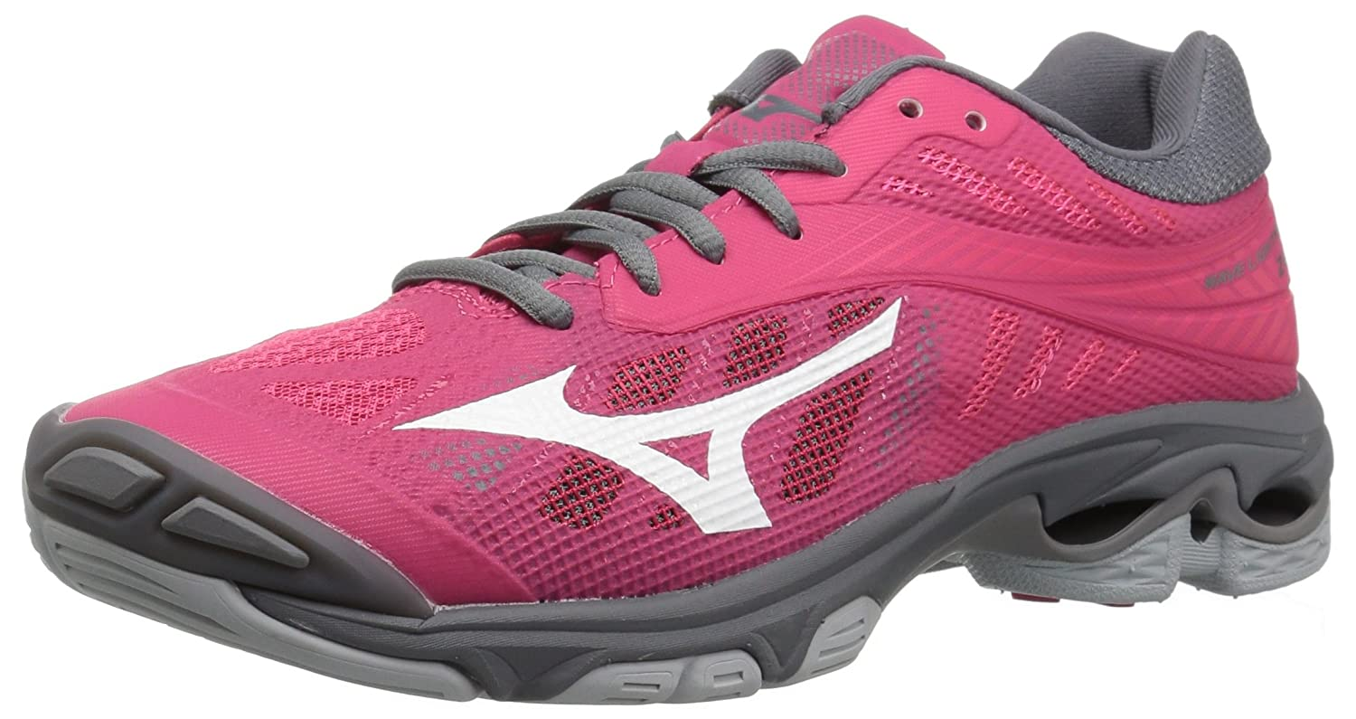 Mizuno Women's Wave Lightning Z4 Volleyball Shoe B0782DZDR2 Women's 11.5 B US|Azalea Pink/Charcoal Grey