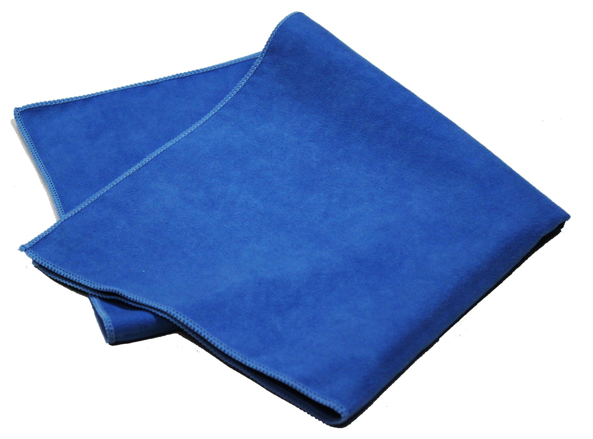 Pro-Clean Basics A73112 Microfiber Suede Clean & Polishing Cloth, Lint Free, 220 GSM, Blue, 16'' x 16'', Pack of 48