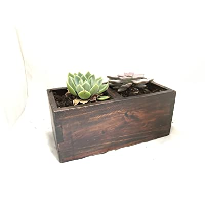 SDS Home Imports Reclaimed Wood Solid Rustic Box Handcrafted Planter 12'x6'x5.5' : Garden & Outdoor