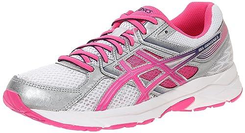 ASICS Women's Gel-contend 3 Running Shoe, White/Knock Out Pink/Indigo Blue, 10 M US