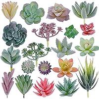 20 plantas artificiales aterciopeladas, suculentas para bricolaje para el hogar, jardín, decoración de oficina de CEWOR