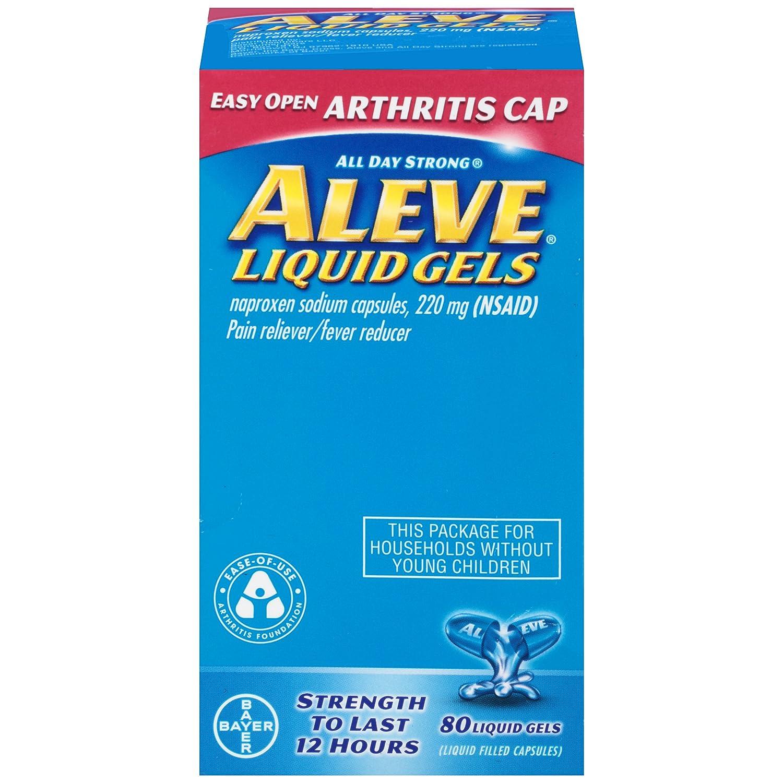 Aleve Liquid Gels With Easy Open Arthritis Cap 80 Count