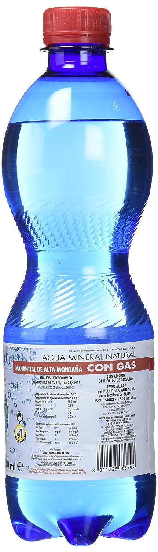 La Finestra Sul Cielo Agua con Gas - Paquete de 12 x 500 ml - Total: 6000 ml: Amazon.es: Alimentación y bebidas