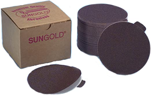 180 /& 220 Asst Grits 5 each of 80 100 Sungold Abrasives 04313 5-Inch PSA Stick-On Discs Stearated Aluminum Oxide Weight Cloth 120 150