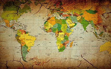 World Map Hd Image.Mahalaxmi Art Paper World Map Hd Wallpaper Multicolour Amazon In