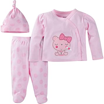 d36148b6cea5 Image Unavailable. Image not available for. Color: Gerber Newborn Baby Girl  Take-Me-Home ...
