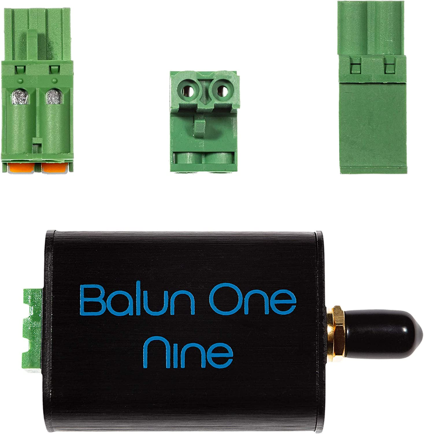 Balun One Nine v2 - Small Low-Cost 9:1 (1:9) Balun with Input Protection & Enclosure for HF & Shortwave. Great for Software Defined Radio (RTL-SDR & SDRPlay), Ham It Up, and Other Capable Radios