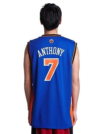: carmelo anthony jersey: adidas blu replica 7, new york