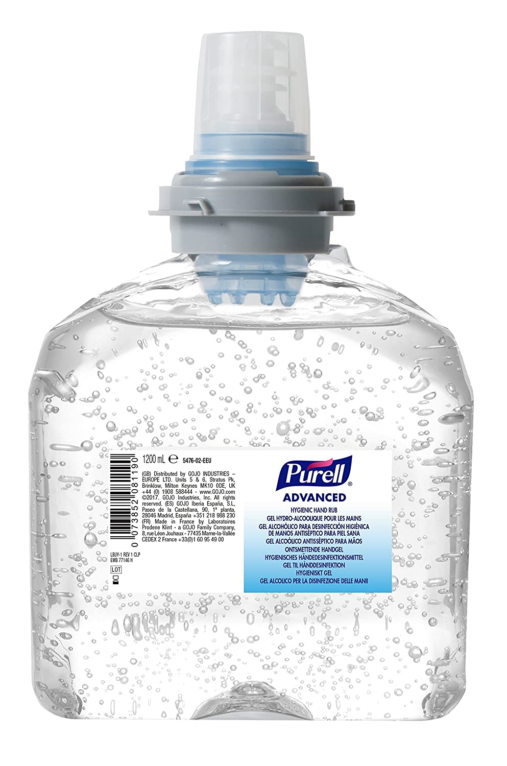 Purell Advanced Hygienic Hand Rub, 1200ml Refill for GOJO/Purell TFX Dispenser Laboratoires Prodene Klint - a GOJO Family Company 5476-02-EEU