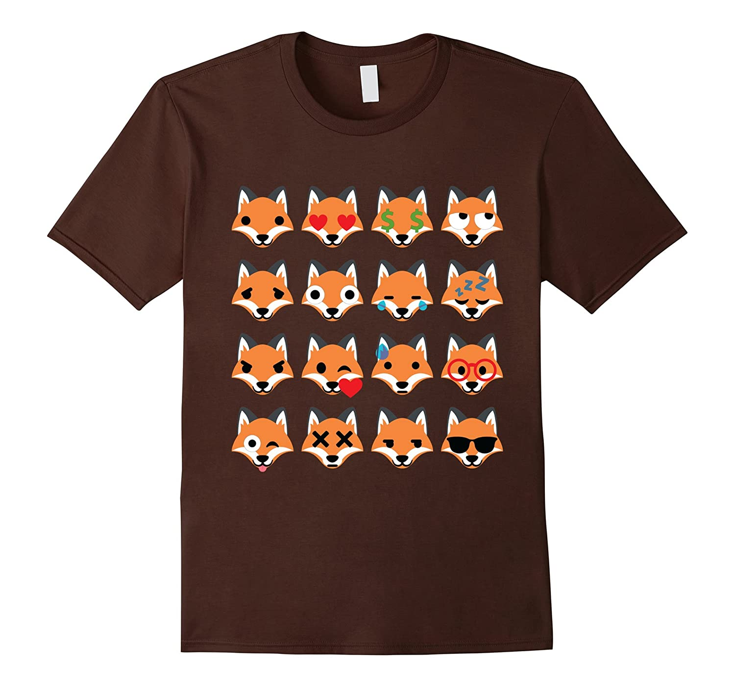 Fox Emoji Many Face Emotion Shirt T-Shirt Tee