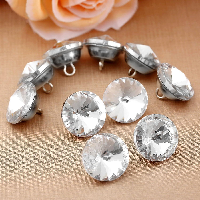 10 botones de cristal de diamante para tapicer/ía decoraci/ón de pared 16 mm de di/ámetro