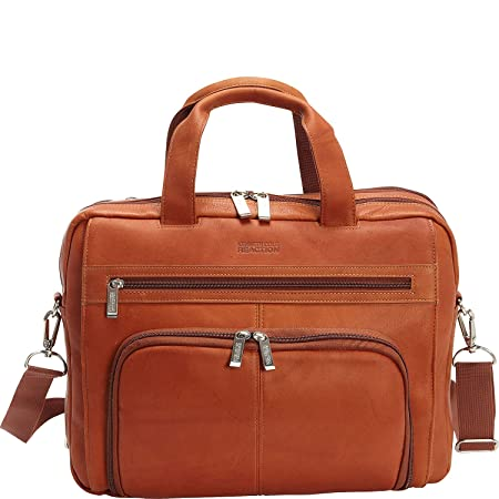 65d6b8fb419e Kenneth Cole Reaction Colombian Leather Dual Compartment Expandable 15.6