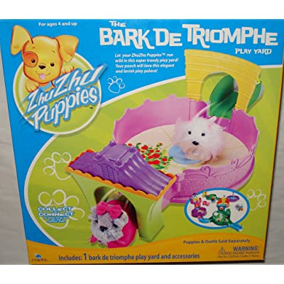 Zhu Zhu Puppies The Bark De Triomphe Play Yard Puppies Not Included!: Toys & Games