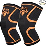 iDofit Knee Compression Sleeves Support for Running, Jogging, Basketball, Sports - Breathable Knee Support Sleeve for Joint Pain Relief, Arthritis and Injury Recovery, Improved Circulation