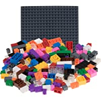 """Strictly Briks Classic Bricks 336 Piece Set with 10"""" x 10"""" Baseplate 100% Compatible with All Major Brands 
