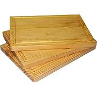 3 piezas, Tabla cocina para picar y cortar, Pino primera calidad tratada con cera para madera grado alimenticio, 30 x 22…