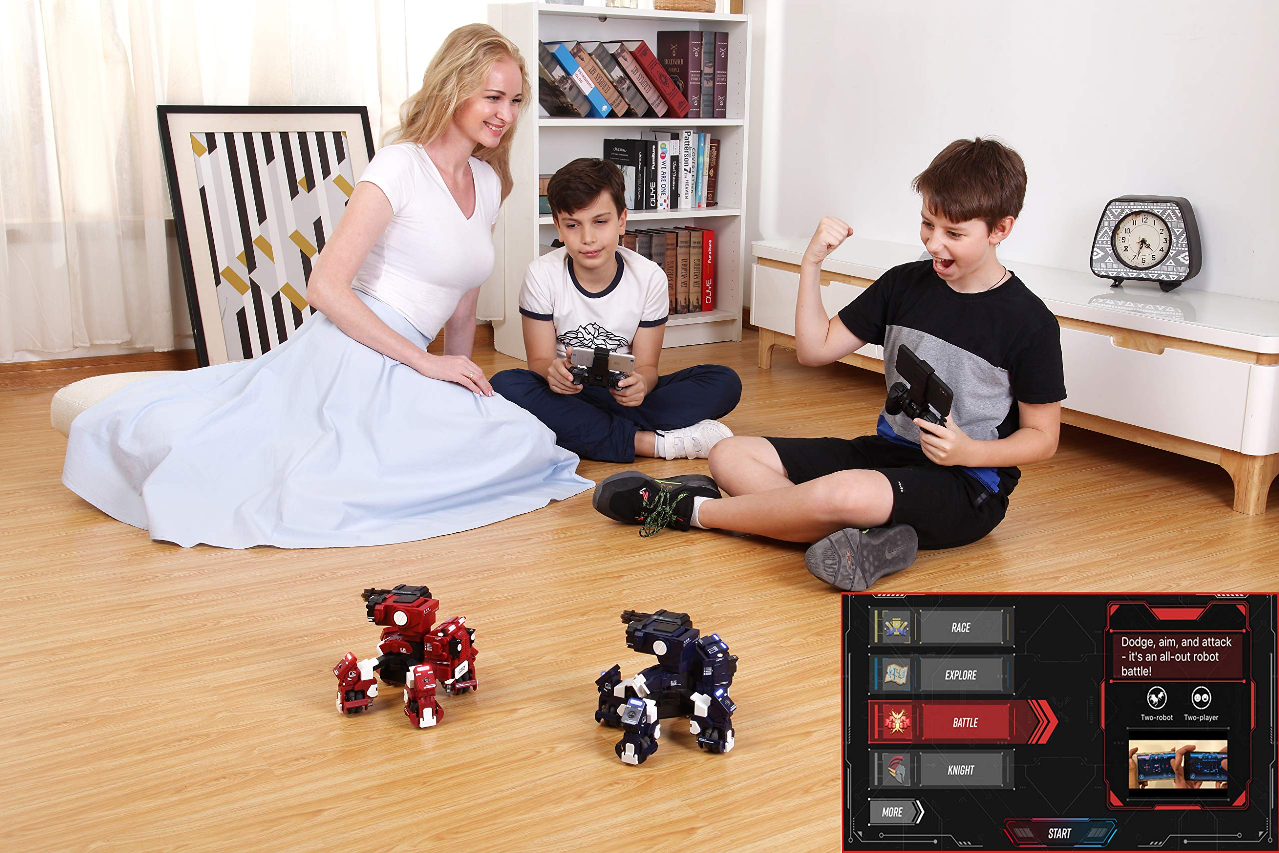 GJS Robot - GEIO Gaming Robot, App-Connected Program Robotic, STEM Educational Robots for Kids to Learn Coding, 8 Modes in 1(Blue) by GJS Robot (Image #5)