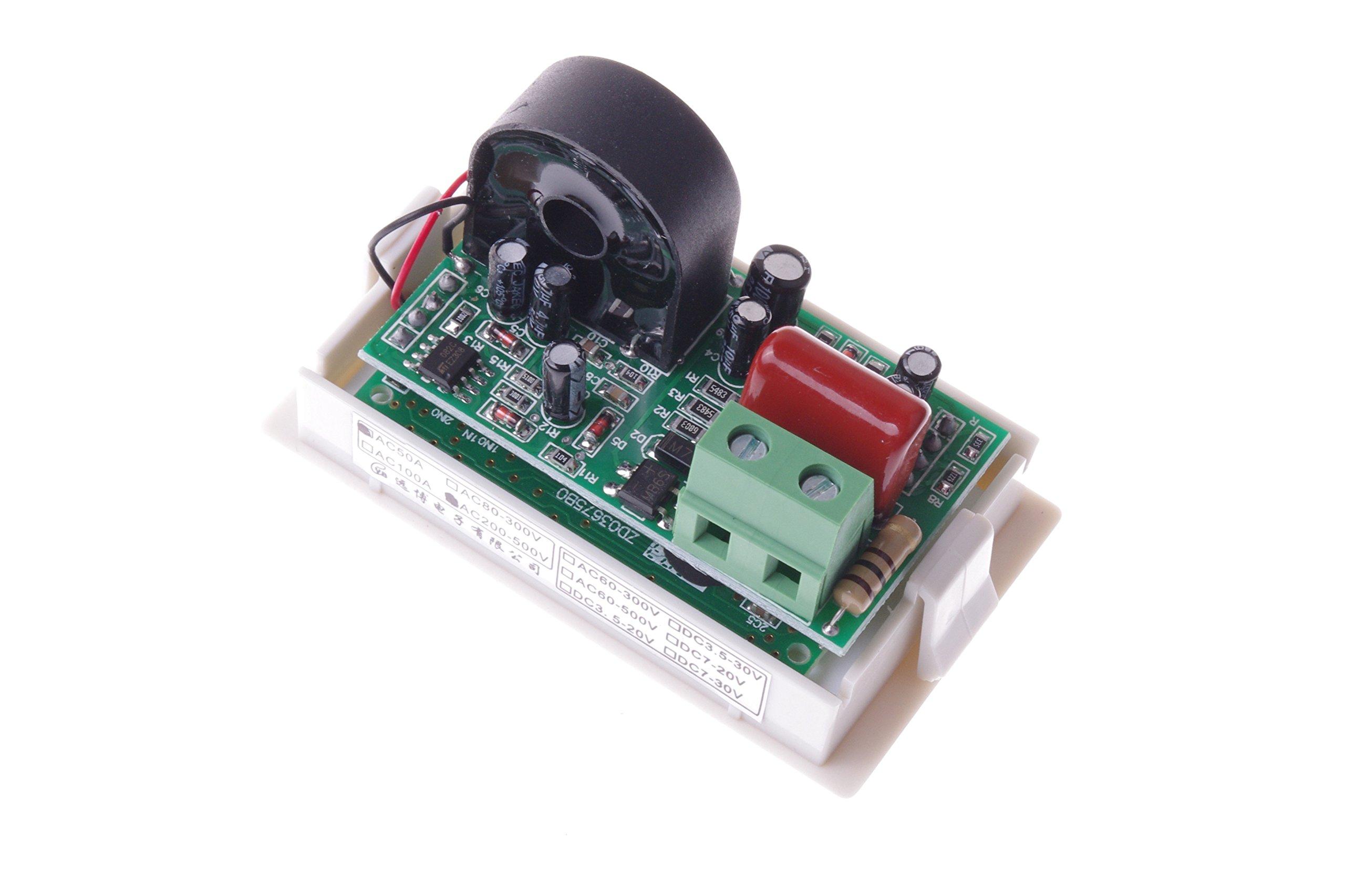 SMAKN AC 200-500V/50A Digital LCD Display Voltmeter Amperemeter Volt Gauge+Current Measure Sense Resistor by SMAKN (Image #6)