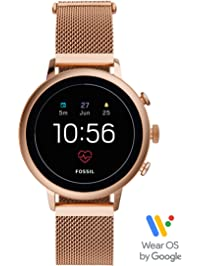 Fossil Women's Gen 4 Venture HR Stainless Steel Touchscreen Smartwatch with Heart Rate, GPS, NFC, and Smartphone...