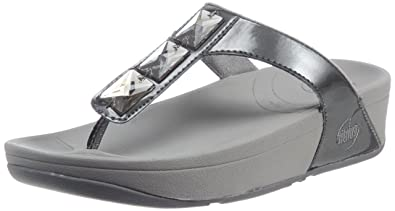 2dd7fa804 Fitflop Pietra Pewter Size 4  Amazon.co.uk  Shoes   Bags