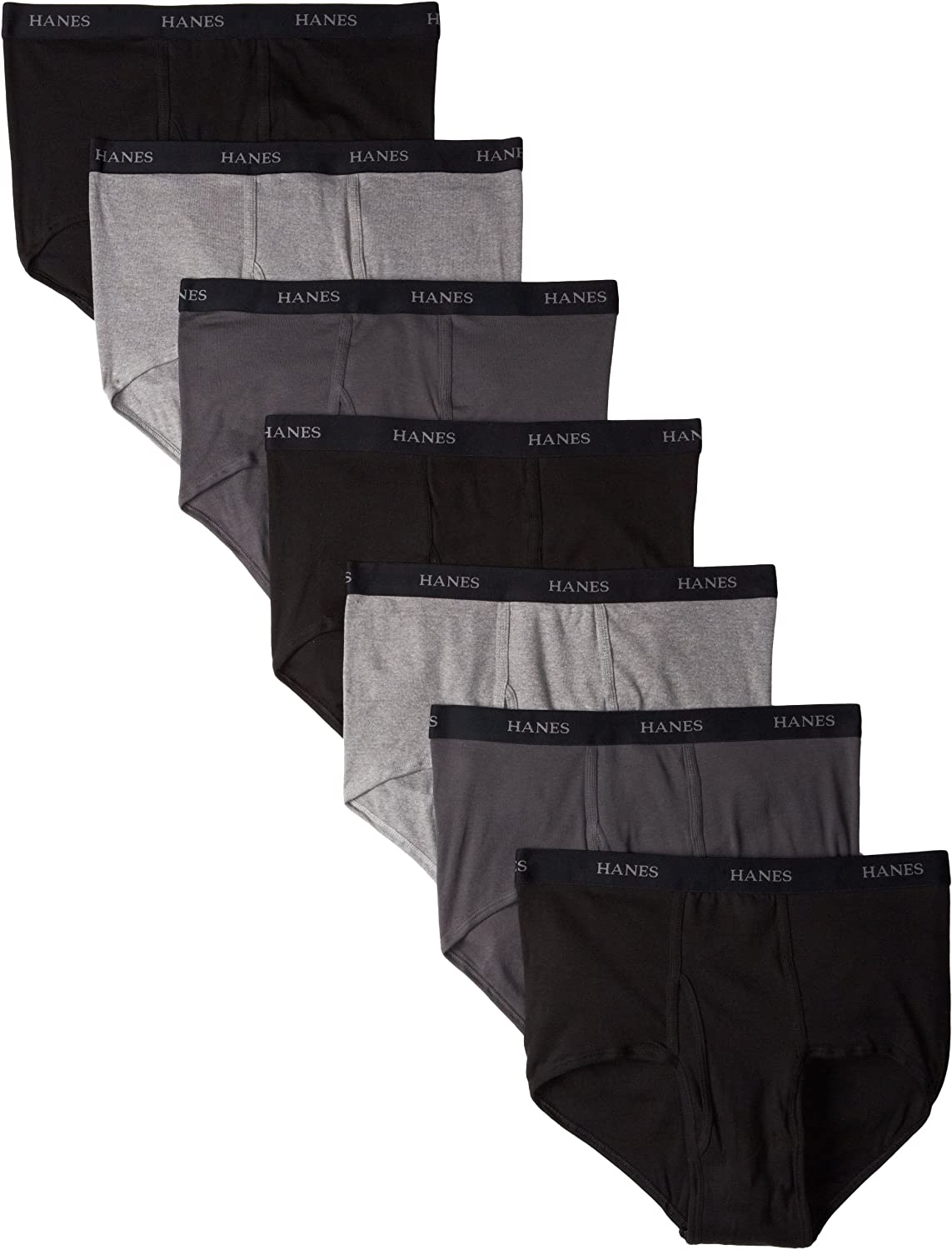 Hanes Ultimate Men's 7-Pack Full-Cut Pre-Shrunk Briefs - Colors May Vary at  Men's Clothing store: Briefs Underwear