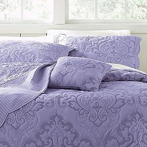 BrylaneHome Amelia Bedspread - King, Lavender
