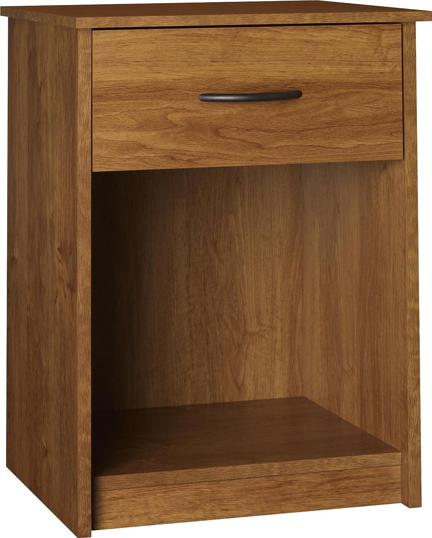 Ameriwood Home Core Nightstand, Black Oak Dorel Home Furnishings 5497026COM
