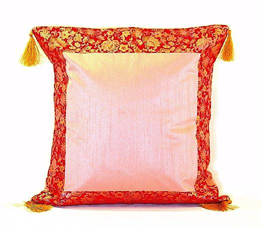 Chino fundas de cojín de seda, hecha a mano y forrado con ...