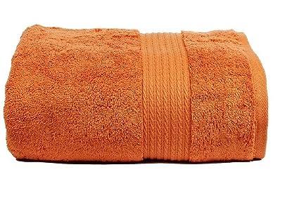 Trident RL egipcio algodón 720 G/m² toalla de baño, color naranja