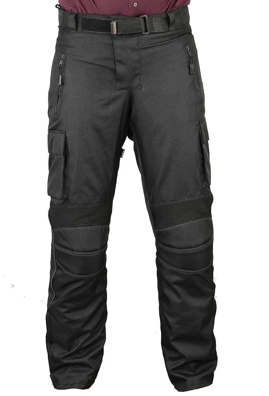 W40 L32 Pantalones de protecci/ón para Hombre de Moto Impermeable