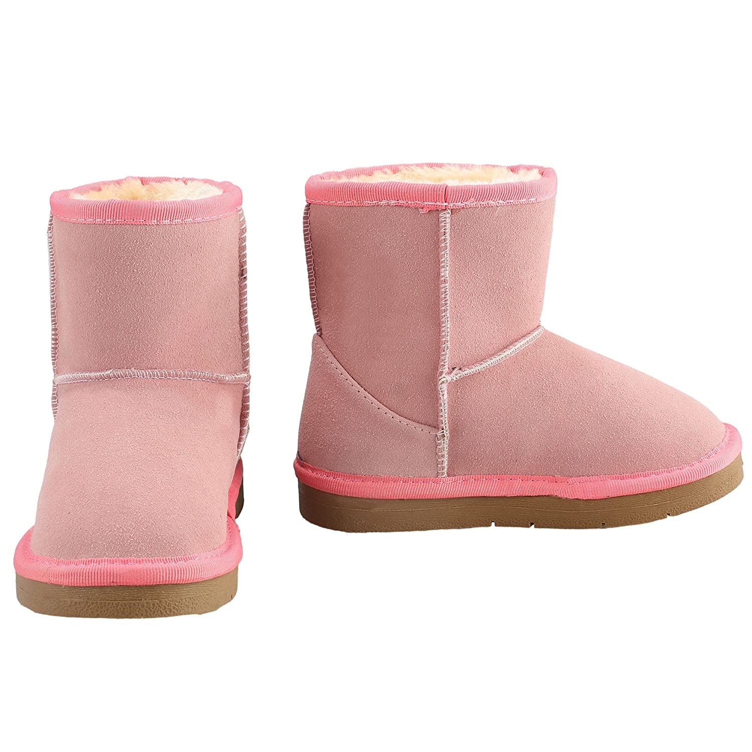 Zaclotre Boys Girls Cute Comfort Warm Winter Fur Shoes Snow Boots TZ002286